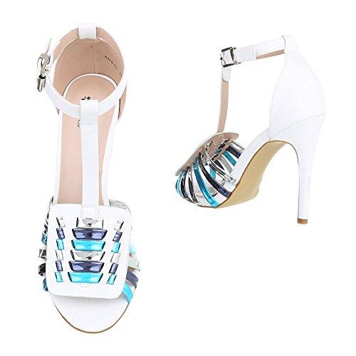Ital-Design - Plataforma Mujer Weiß Multi