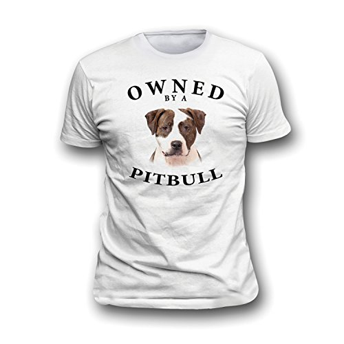 (Pit Bull BRINDLE WHITE Owned By Adult T Shirt - XL)