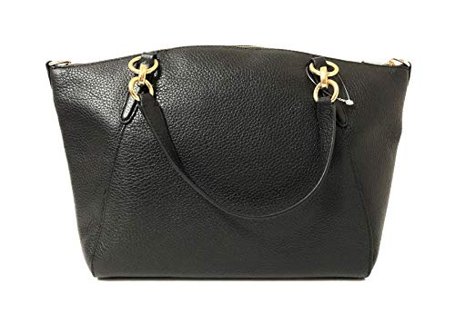 Coach Leather Small Kelsey Cross Body Bag, Medium, Black