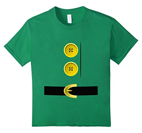 Homemade Halloween Elf Costumes (Kids Dwarf, Gnome, Elf, Halloween Group Matching Costume Shirt 8 Kelly Green)