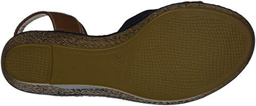 Supremo Braun Camel 4822104 para con Plataforma Mujer navy Sandalias AAHTr