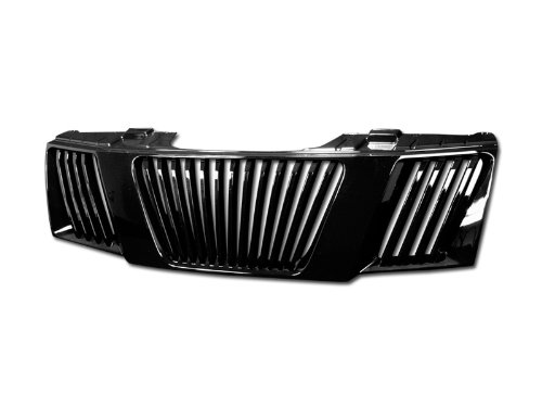 Vertical Grill Abs (AutobotUSA BLK VERTICAL FRONT HOOD BUMPER GRILL GRILLE ABS FOR 05-08 FRONTIER/07 PATHFINDER)