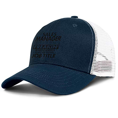WJINX Sales Manager Because Freakin' Miracle Worker is Not an Official Job Title Unisex Mesh Baseball Hat Adjustable Sun Cap -