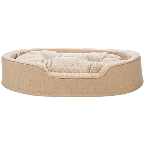 (Harmony Cuddler Orthopedic Dog Bed in Khaki, 43