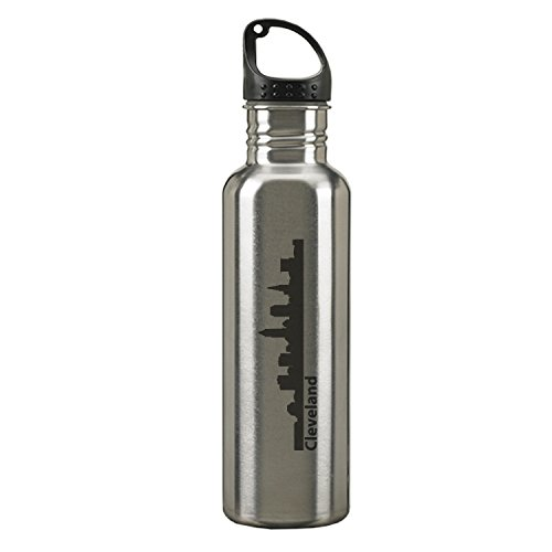 Cleveland, Ohio-24 ounce Sport Water Bottle-Silver