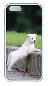 Hd Wallpapers Of Puppies TPU Case Cover for iPhone 5 and iPhone 5s White