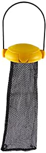 "Gardman BA04820A Yellow Flip Top Thistle Feeder Mesh Bag, 4"" Wide x 12"" High"