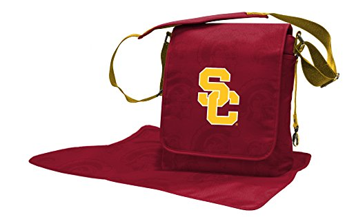 Wild Sports NCAA College USC Trojans Messenger Diaper Bag, 13.25 x 12.25 x 5.75-Inch, Red (Usc Trojan Baby)
