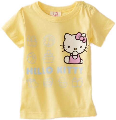 Hello Kitty Organics Baby Girls' Icons Short Sleeve Snap T-Shirt