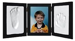Clay Hand & Footprint Photo Keepsake Desktop Frame (Black)
