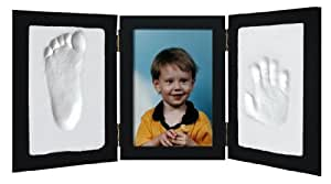 Clay Handprint & Footprint Keepsake Photo Desktop Frame - Black