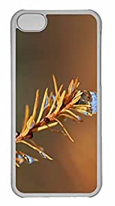 iPhone 5C Case, Personalized Custom Wet Fir Tree Twig for iPhone 5C PC Clear Case