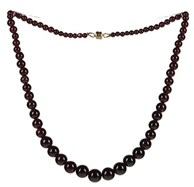 Garnet Graduated Necklace with 14K Gold Filled Magnetic Clasp from ugems