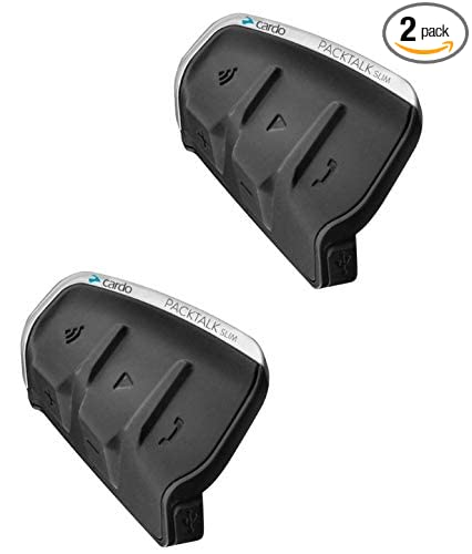 CARDO PTS00101 CARDO PACKTALK SLIM DUAL PACK HEADSET KIT with Sound by JBL Sound by JBL Motorcycle Bluetooth Communications System PTS00101 DUAL PACK