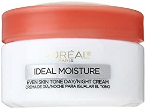 L'Oreal Paris Ideal Moisture Even Skin Tone Facial Day/Night Cream, All Skin Types, 1.7 Ounce