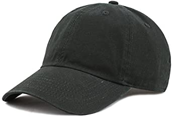 The Hat Depot Unisex Blank Washed Low Profile Cotton Dad...