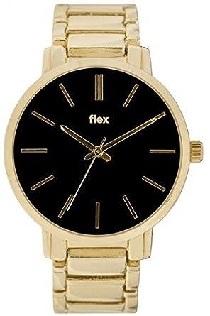 Armbanduhr Flexwatches Black&Gold Hadley