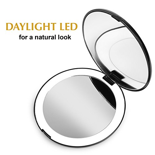 Fancii Led Lighted Travel Makeup Mirror 1x 10x