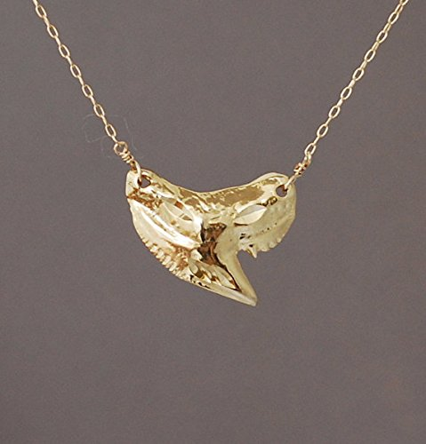 Shark tooth necklace and pendant Curved shark tooth