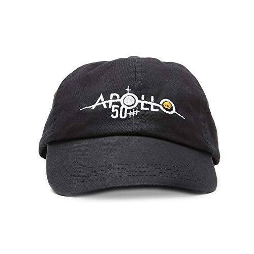 Apollo 11 Anniversary NASA Hat Baseball Cap with Moon Landing Anniversary, Apollo 50th Logo Baseball Hats Mens Womens Black
