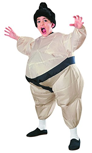 SUMO WRESTLER Kids Child Size Blowup Inflatable Jumpsuit Cosplay Costume (Mens Inflatable Sumo Costume)