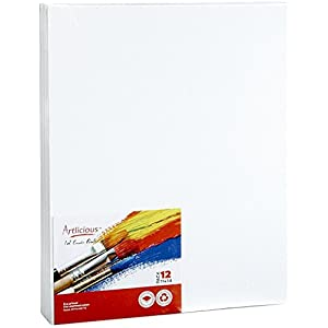 "Artlicious Canvas Panels 12 Pack - 11""X14"" Super Value Pack- Artist Canvas Boards for Painting"