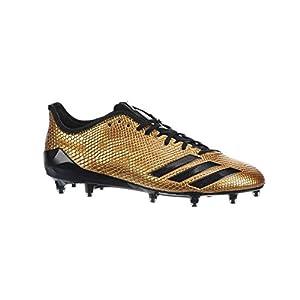 Adidas Adizero 5Star 6.0 Gold Cleat Men's Football 9 Gold Metallic-Black-Black