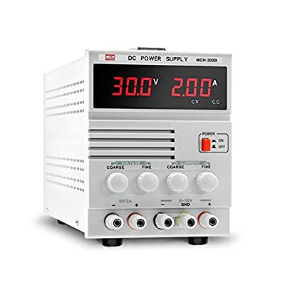 XIAOF-FEN High Precision Adjustable DC Power Supply 30V 2A Notebook Repair Linear Power Supply MCH-302B Digital Display Home Improvement Electrical