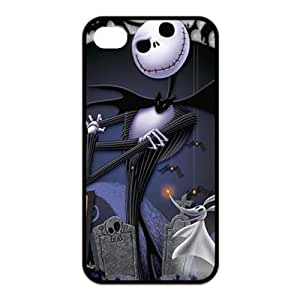 For Apple Iphone 4/4S Case Cover ,The Nightmare Before Christmas Design For Apple Iphone 4/4S Case Cover ,Cover for For Apple Iphone 4/4S Case Cover s,Case for For Apple Iphone 4/4S Case Cover ,Hard Case Protector For Apple Iphone 4/4S Case Cover (Black/White)