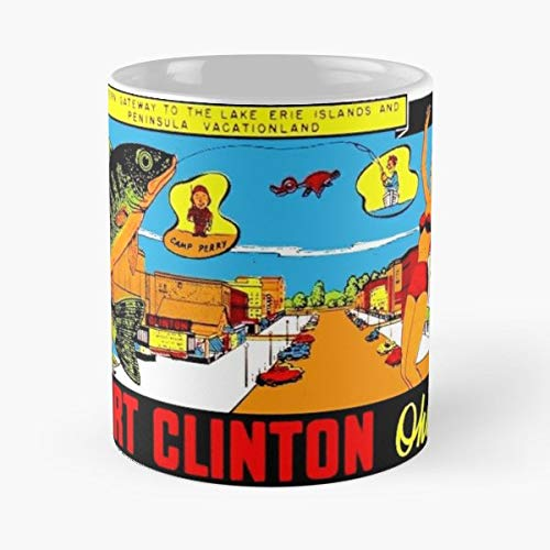 Port Clinton Ohio Oh Walleye - Funny Gifts For Men And Women Gift Coffee Mug Tea Cup White 11 Oz.the Best Holidays.