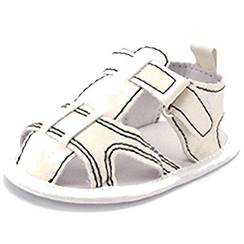 Belsen - Zapatos primeros pasos de Material Sintético para niña rojo Rose Red S Weiß