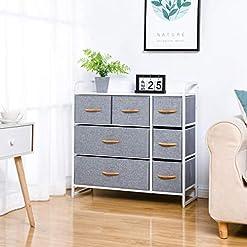 Bedroom Kamiler 7 Drawer Dresser,3-Tier Storage Organizer,Chest of Drawers for Bedroom,Hallway, Entryway,Nursery,Closets-Sturdy… modern dressers