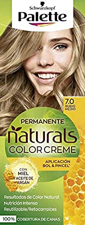Palette Palette Natural Tinte #7.0-Rubio Medio 110 ml: Amazon ...