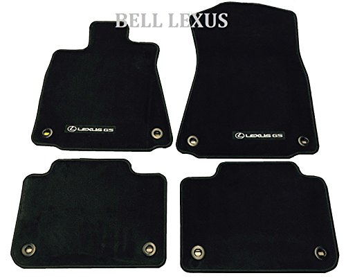 Y CARPET FLOOR MAT SET 2013-2017 GS350 GS450H 2WD BLACK (Factory Oem Carpet)