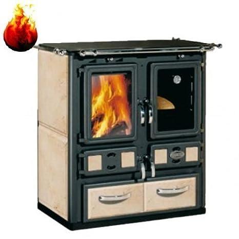 Sideros Madera Calefacción Estufa Cocina Rabecca 760 6kW Cerámica Fije: Amazon.es: Bricolaje y herramientas