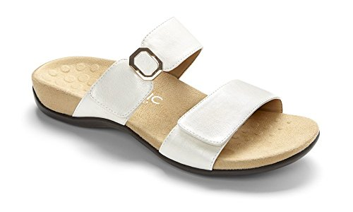 Vionic - Sandalias de vestir de Piel para mujer Blanco blanco