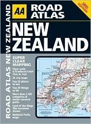AA Road Atlas New Zealand 3th (third) edition Text Only PDF