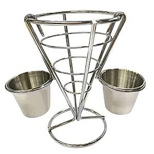 YJYdada - Soporte para dos tazas para patatas fritas: Amazon ...