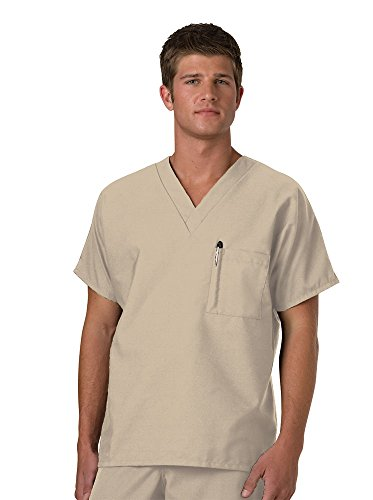 Fundamentals by White Swan Unisex V-Neck Solid Scrub Top X-Large ()