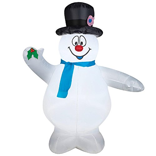 Christmas Inflatable 5' Frosty The Snowman Airblown By Gemmy