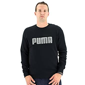 Puma Fleece Crew Sweatshirt (Small, Black)