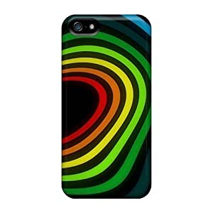 OLCTZDU2393FiGKZ Faddish Abstract Multicolor Rainbows Case Cover For Iphone 5/5s