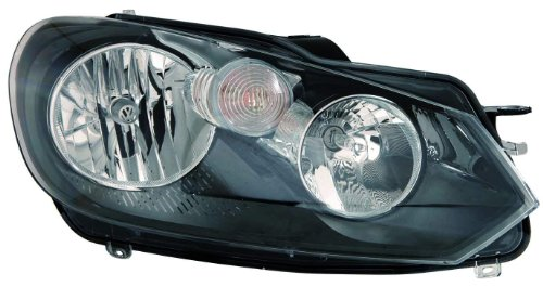 olkswagen Golf/GTI Passenger Side Composite Headlamp Assembly with Bulb and Socket ()