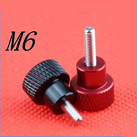 Screws 5pcs m6 Thread Colourful Aluminum Head Stainless Steel Step Hand Thumb Screw - (Size: Black, Length: 25mm): Amazon.com: Industrial & Scientific