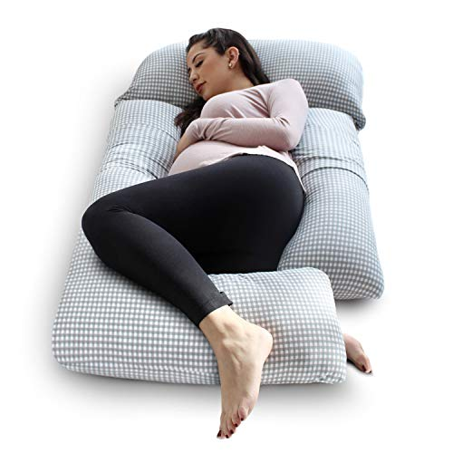 eklo SleepNook Pregnancy Pillow – 3 Piece Full Body Maternity Pillow with Super Soft Jersey Cover