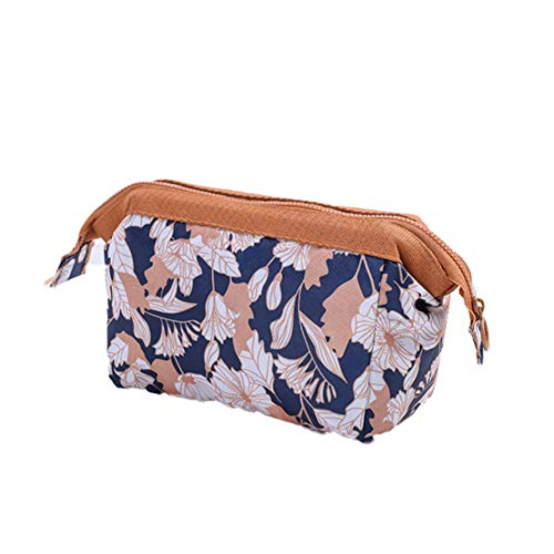 Women Storage Bag Fashion Travel Flowers Leaves Flamingos Printed Zipped Ladies Girls Wash Makeup Bags from Nat Terry