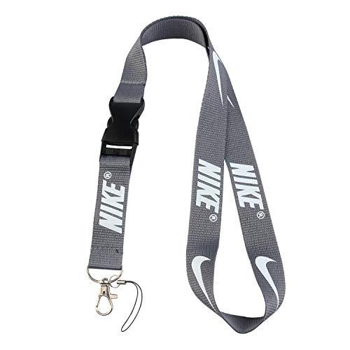 Lanyard Keychain Holder Keychain Key Chain Black Lanyard Clip with Webbing Strap (Gray)