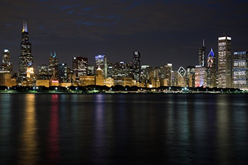 Home Comforts LAMINATED Poster3 Chicago Skyline At Night Arc