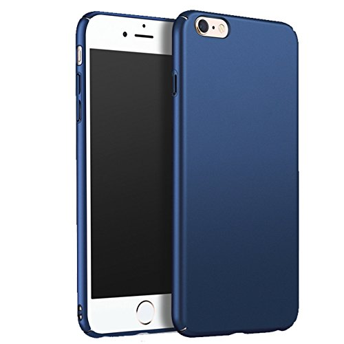 iBarbe iPhone 6 Plus Case, iPhone 6s Plus Case, Shock Absorption Scratch Resistant Bumper slim Hard Plastic Cover Case for iPhone 6 Plus (2014)/iPhone 6s Plus (2015) - Blue (Brass Knuckles Iphone Case)