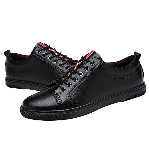 100 Grande Taille Hommes Confort Noir Unisexe Chaussures Bas Baskets Femmes Véritable De Roulettes Planche Lacer Cuir Jamron Haut À aqt4wa